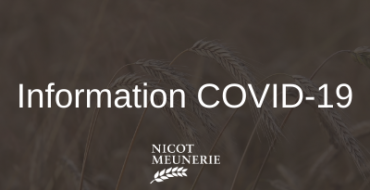 Information Nicot Meunerie COVID-19